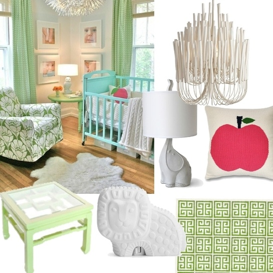 A stunning nursery... I have never thought to mix mint with robin's egg blue. cute :)