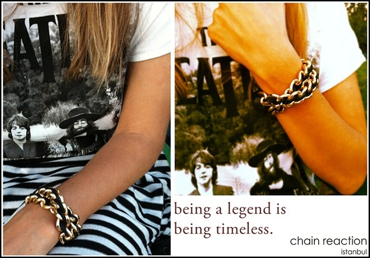 Chain Lux wristwear by chain reaction:  being a legend is being timeless