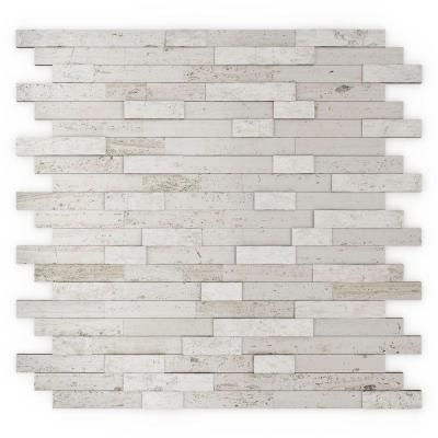 Inoxia SpeedTiles Himalayan 11.75 in. x 11.6 in. Stone Adhesive Wall Tile Backsplash in White (12-Pack)