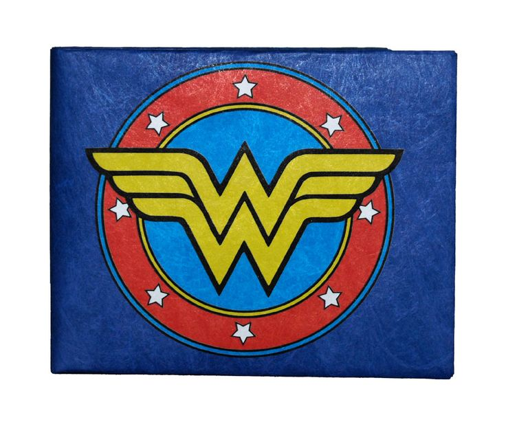 wonder woman logo dc comics superhero tyvek mighty wallet