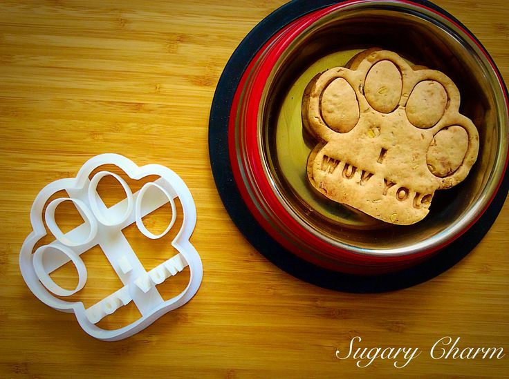 """Our Dog paw """"I Wuv You"""" cookie cutter is a great gift for dog lovers or to add to your own baking supplies. Pawz-itively adorable, our paw cutter makes cookies or homemade dog biscuits embossed with """""""