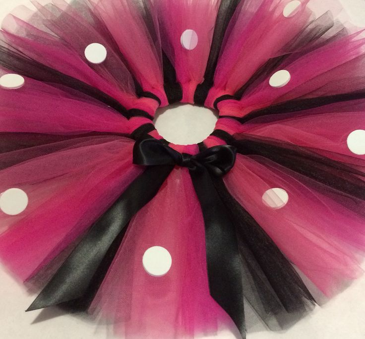 Minnie Mouse inspired pink Handmade tutu, also available in red, baby pink, purple or any colour you wish to have! :)