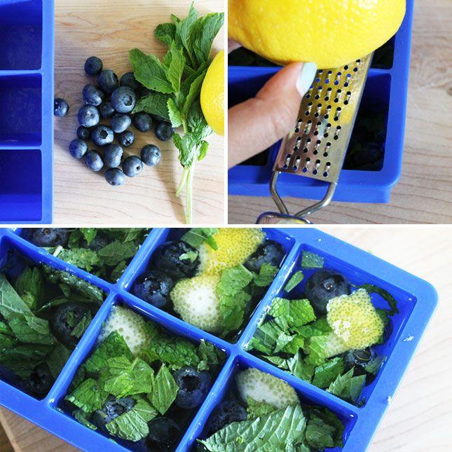 Lemon, Blueberry & Mint Ice Cubes