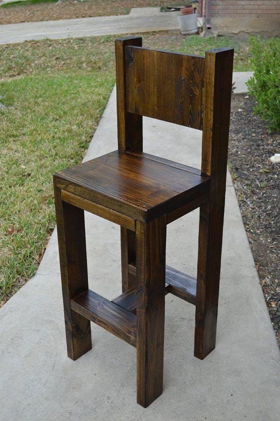 Rustic Counter Stool By Applecreekfurniture On Etsy 225 00 Diy Furniture In 2019 Diy Bar
