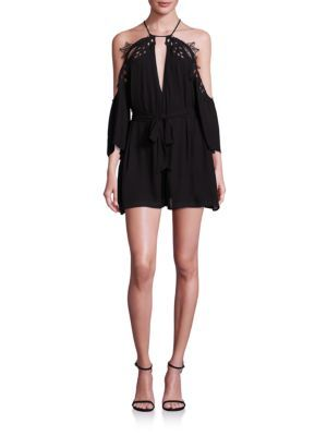ALICE MCCALL Fame Cold-Shoulder Romper. #alicemccall #cloth #romper