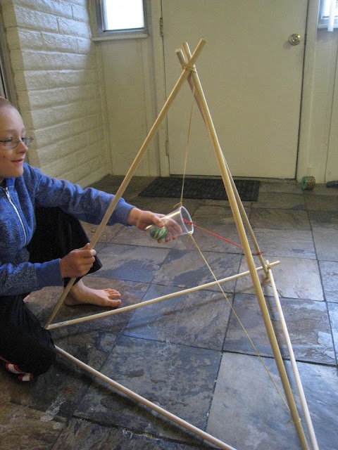 Making a catapult from a Knights and Nobles Unit: Teach Beside Me
