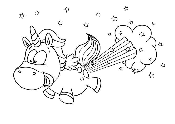 ausmalbild einhorn pummel einhorn unicorn  ausmalbilder