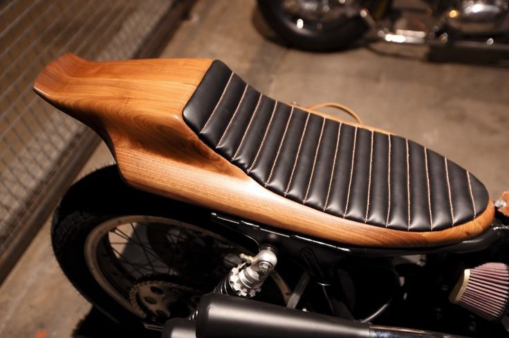 Hand Formed Wooden Motorcycle Seat The Handbuilt Show In