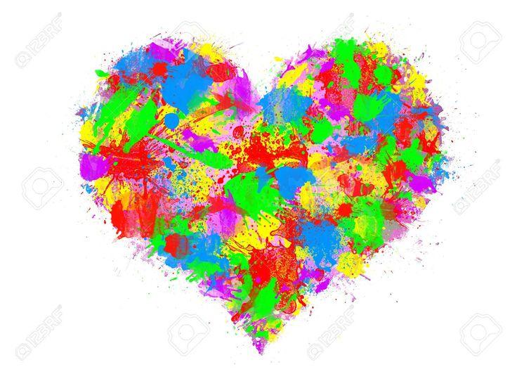 corazon de todos colores - Buscar con Google
