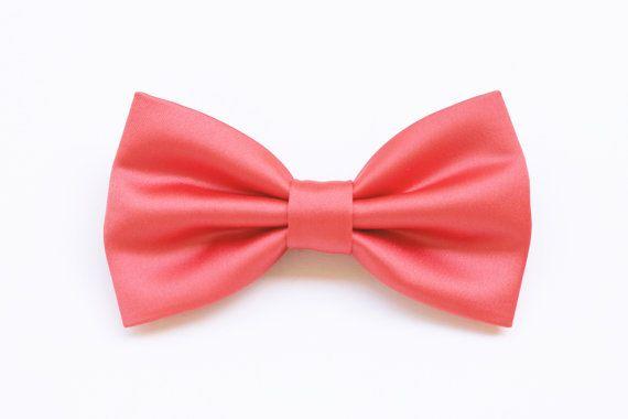 Coral Pink Bow Tie for men, elegant, for wedding ceremony wedding celebration,groom,groomsmen,witnesses,accessories for wedding,pastel coral