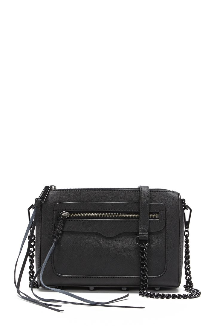 Clutch Bag On Sale, Black, suede, 2017, one size Rebecca Minkoff