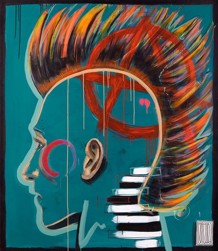 punx, model,boy, art, paintings Gdzieś tam jesteśmy wolni, 130x150 cm, akryl, olej na płótnie, 2016