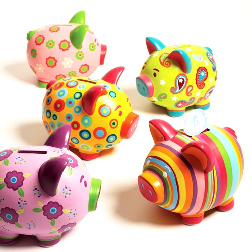 ceramic piggy bank - use your imagination