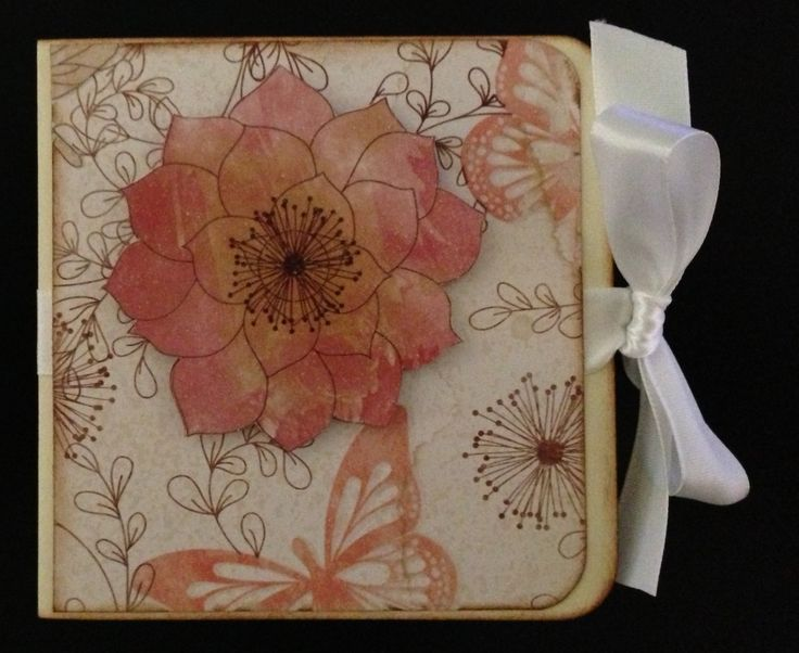 Scrapbook paper gift card holder front (using DCWV Garden Tea Party Stack).