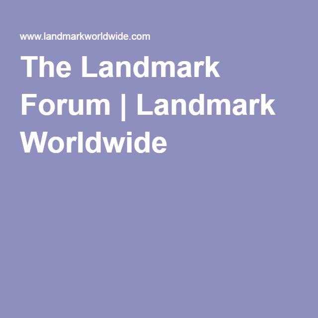 The Landmark Forum | Landmark Worldwide