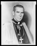 Bishop Fulton J. Sheen, head-and-shoulders portrait, facing front