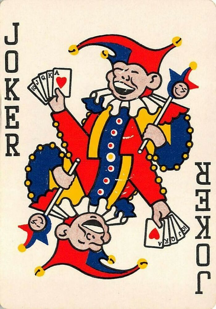 Single Swap Vintage Joker Playing Card Reversible Champion Papers Ad Joker Playing Card Card Art Joker Card