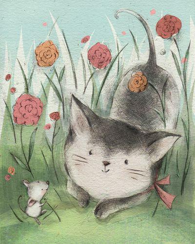 Spring Cat by Jennifer Bell