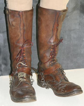 Boer War Pictures, Pair of Strathcona Boots.  CWM 19970017-008.  Photo: Bill Kent, CWM