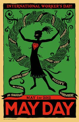 2012 May Day poster from the USA.