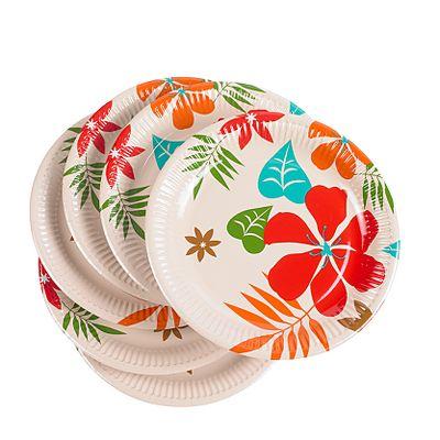 asda tropical paper plates 8 pack 9p