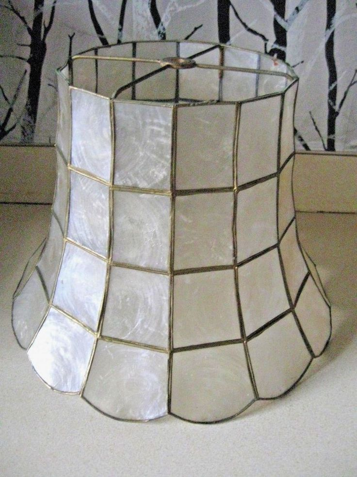 The 25 best lamp shade frame ideas on pinterest old lamp shades vintage capiz shell w brass frame table lamp shade keyboard keysfo Choice Image