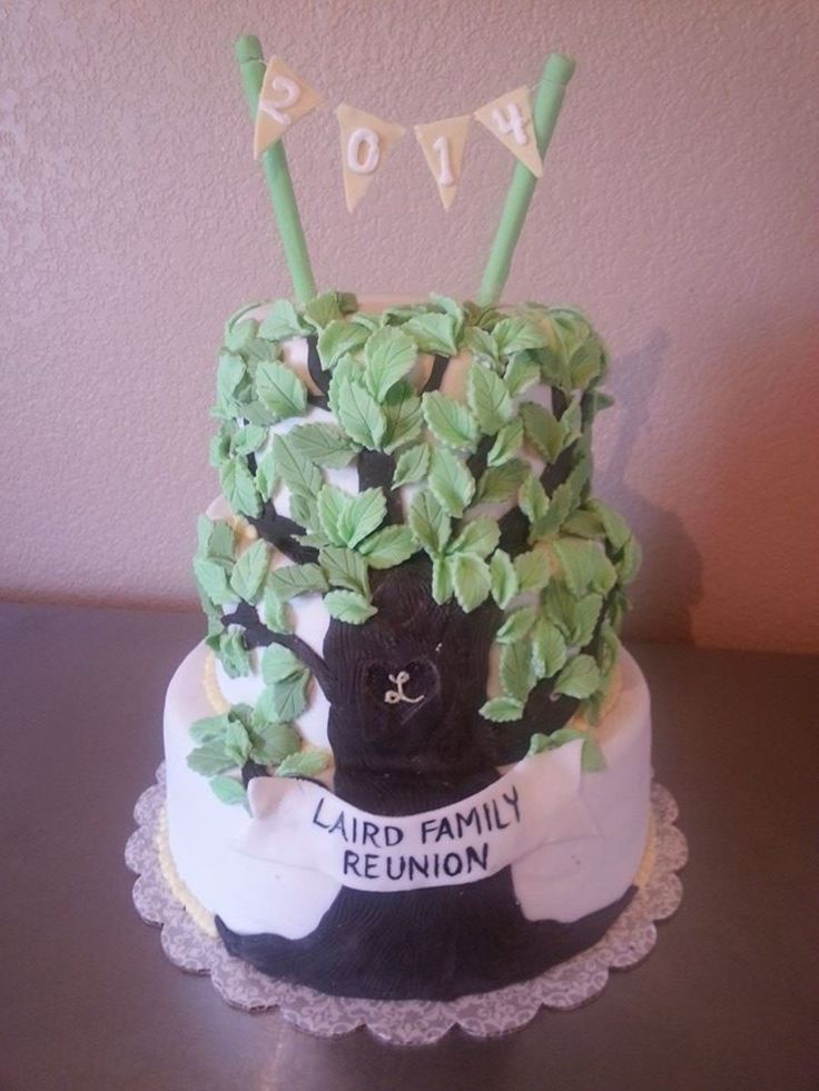 Family Tree cake for a family reunion