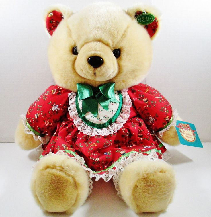 """Brown Bear Wearing a Red Chrismas Outfit  - 1991 K-Mart 22"""" Christmas Teddy Bear #KMart #Christmas ..... Visit all of our online locations ..... (www.stores.eBay.com/variety-on-a-budget) ..... (www.amazon.com/shops/Variety-on-a-Budget) ..... (www.etsy.com/shop/VarietyonaBudget) ..... (www.bonanza.com/booths/VarietyonaBudget ) .....(www.facebook.com/VarietyonaBudgetOnlineShopping)"""