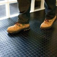 dotted rubber flooring - links to the dot logo.