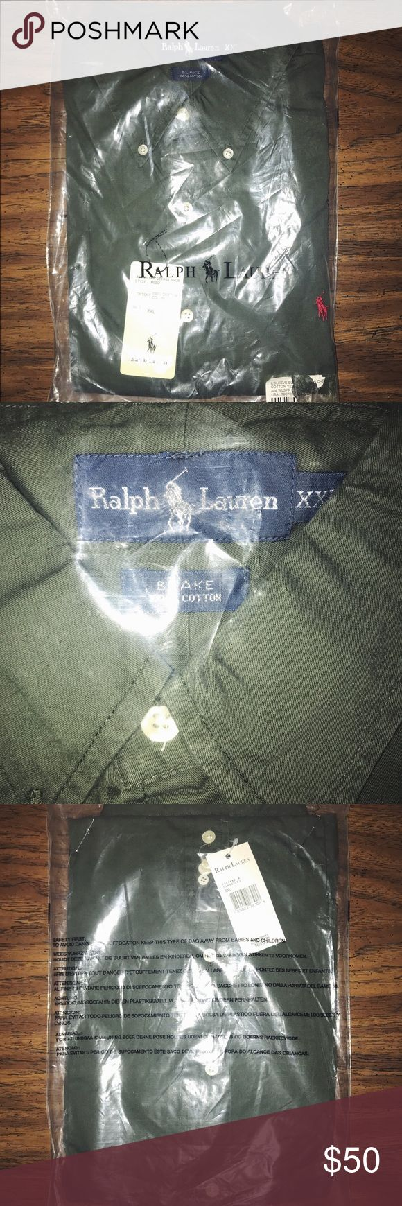 BRAND NEW! Men's XXL Polo Dress Shirt! Im selling a men's XXL green Polo dress shirt! 100% cotton! BRAND NEW! TAGS STILL ON! STILL IN PACKAGING! I am very accepting of offers! Polo by Ralph Lauren Shirts Dress Shirts