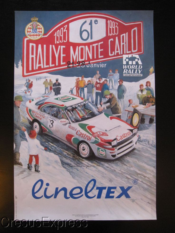 AFFICHE ORIGINALE ACM 61° RALLYE MONTE CARLO 1993 WRC fr.picclick.com