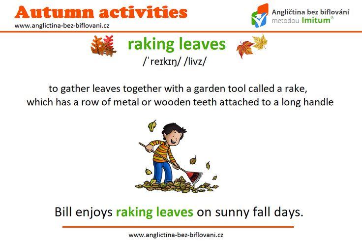 Na podzimní zahradě nás očekává spousta práce. Jednou z aktivit je hrabání spadaného listí. 🍁🍂 #anglictina #slovicka #podzim