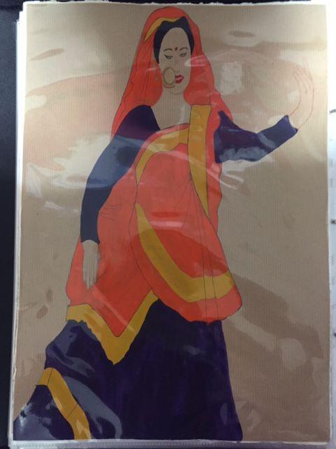 Final Illustration - Acrylic Paint - Uttarakhand (North India)