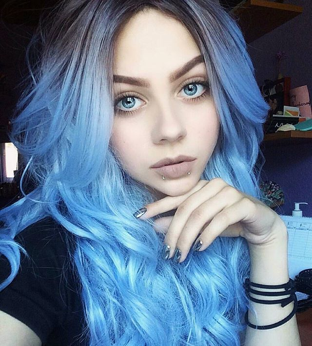 @lastfeastofthewolves #lastfeastofthewolves #hair #hairstyle #ombrehair #dipdye #coloredhair #cute #girl #pastelhair #pastel #bluehair #turquoisehair #grungegirl #grunge #grungestyle #longhair #amazing #makeup #hairgoals #hairideas #hairinspo #curlyhair #wavyhair #eyebrowsonfleek #piercing #snakebites
