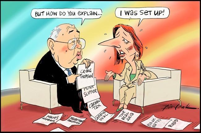 I Was Set Up, Leak, The Australian | Political Cartoons Australia