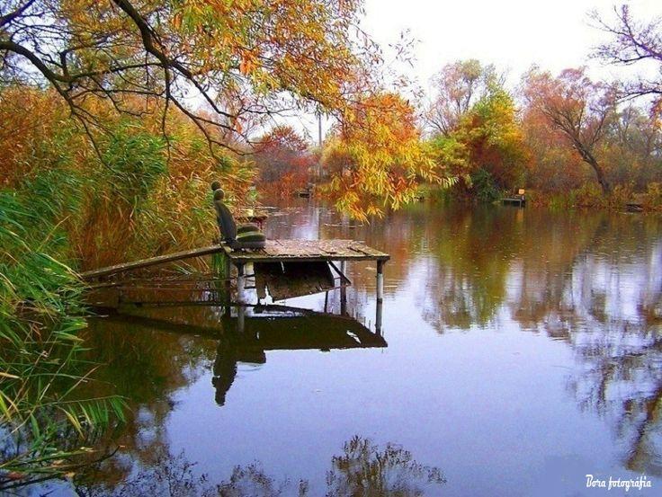 Stégtükör a tóban