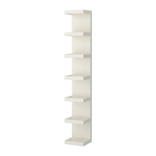IKEA - LACK, Étagère, blanc, , Une bibliothèque étroite permet d'utiliser au mieux l'espace au mur, même sur de petites surfaces.Vous avez le choix entre l'adosser contre un mur ou le suspendre à la verticale ou à l'horizontale.