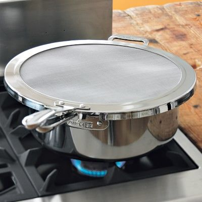 All-Clad Stainless-Steel Splatter Screen #williamssonoma Need one of these!
