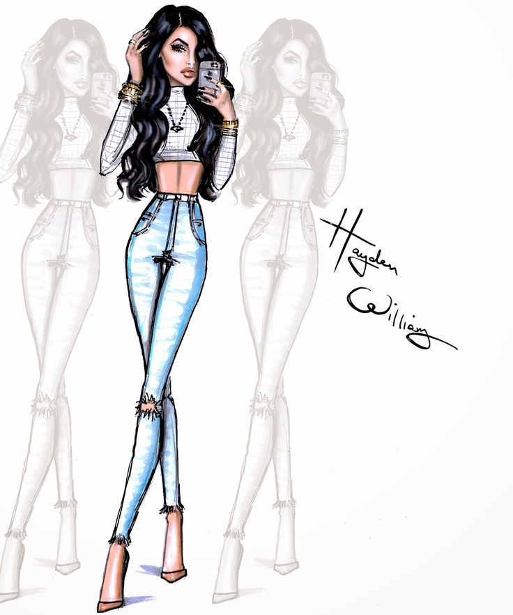 Hayden Williams Fashion Illustrations: The Selfie Series by Hayden Williams: Kylie Jenner