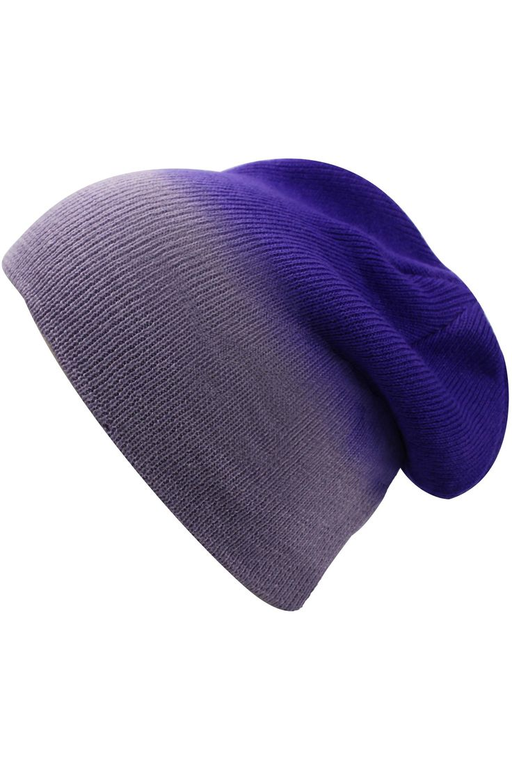 Ombre shading lends contemporary flair to a cozy beanie hat. Made from only the softest & finest materials, you will LOVE this hat! Measures 9 inches wide, when flat. Measures 9 inches long, top to bo