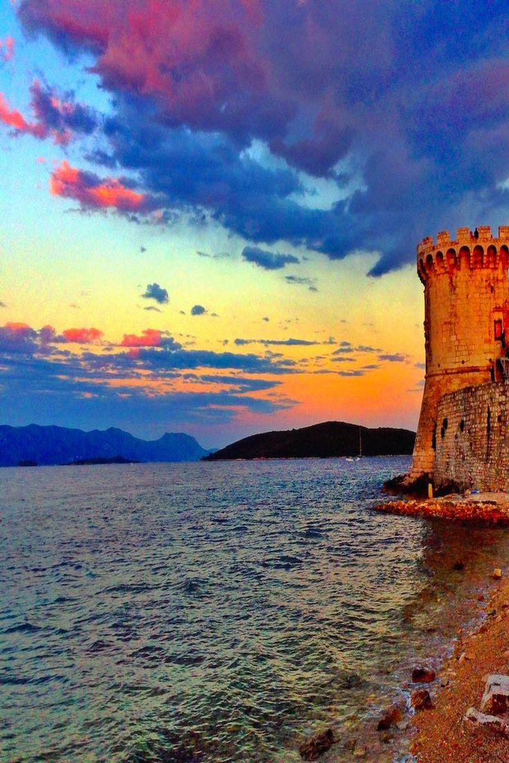 Sunset in Korcula Croatia
