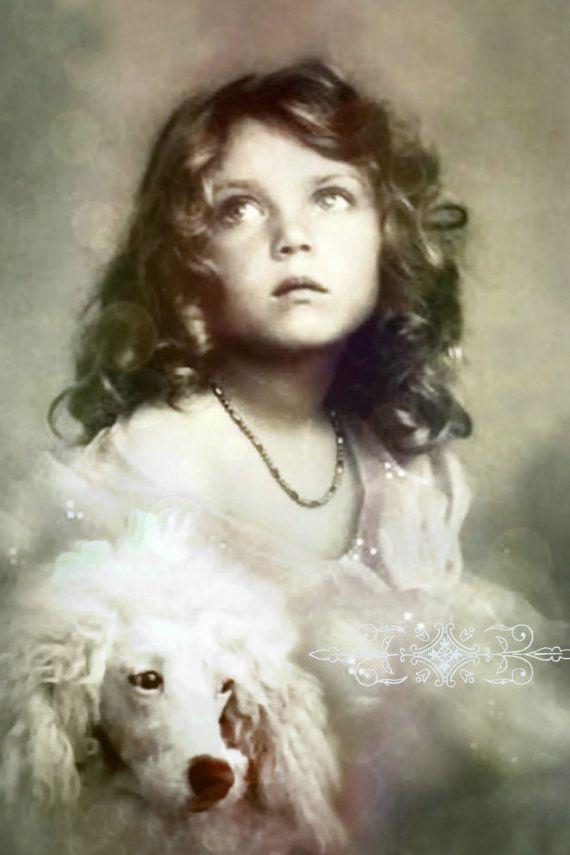 Vintage image altered artCharming Girl and her от DemiArtDemi