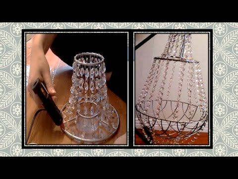 DIY: crystal chandelier. Very smart idea using cheap ...