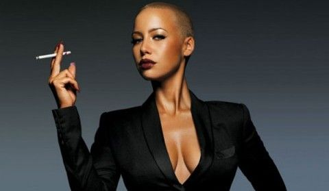 In a recent interview Amber Rose talked about her style and of course her famous shaved head look. She stated that she did not want to wear wigs or grow her hair out because  #AmberRose #Celebrity #WizKhalifa #TBT