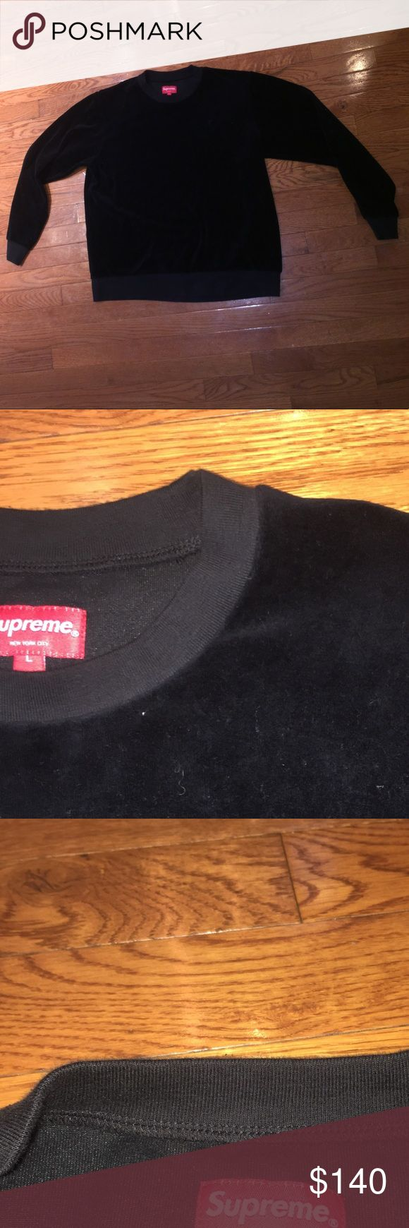 Supreme Velour Sweater Sweatshirt Authentic Almost New Supreme Sweater Sweatshirt. Only Worn A Few Times. Part Of The Fall 2016 Supreme Collection. Fits A Little Small. Supreme Shirts Sweatshirts & Hoodies