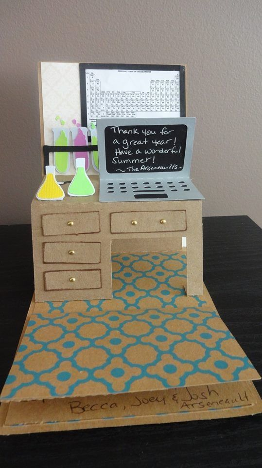 Pop up desk card - made for science teacher. File from #loriwhitlock