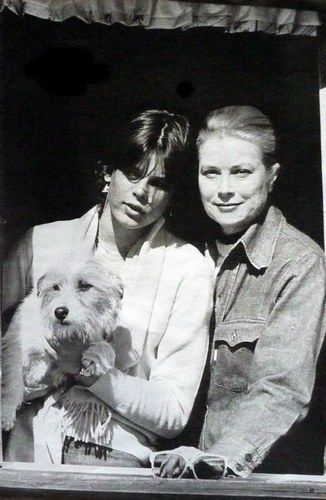 MONACO ROYALS~ Princess Grace, with her younger daughter, Princess Stephanie.