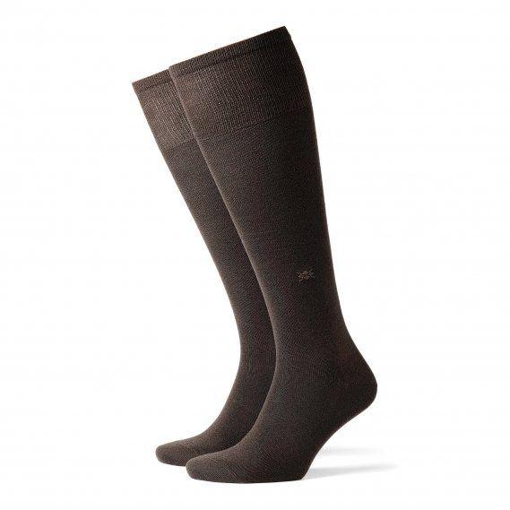 Calcetines Burlington Leeds en marrón, HASTA LA RODILLA, exterior de lana e interior de algodón. Finos, muy cómodos y confortables. Envíos 24/48h. http://www.varelaintimo.com/94-calcetines-de-lana