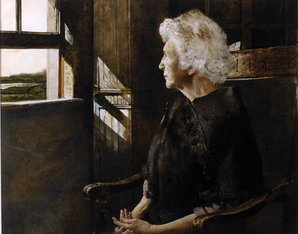 Henriette, 1967 by youngest brother Andrew Wyeth (1917-2009) from World: Three Generations of Wyeths. He was NC and Carolyn Wyeth's youngest child.