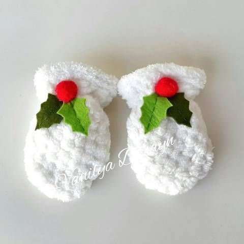 Yumuşacık kışlık bebek eldiveni